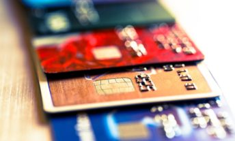 Abstract macro credit card background