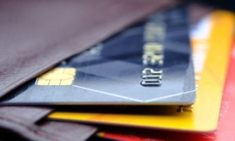 Credit cards in wallet